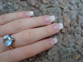 Серебряное кольцо с большим топазом