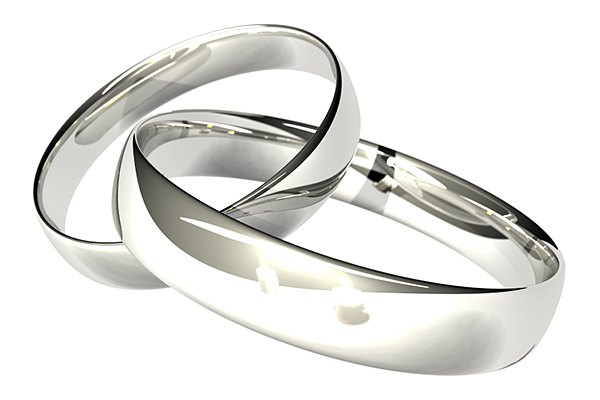 Серебряные обручальные кольца