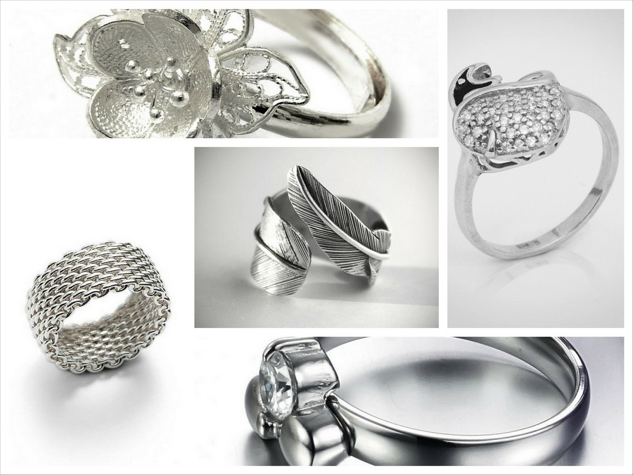 Разнообразие серебрянных колец