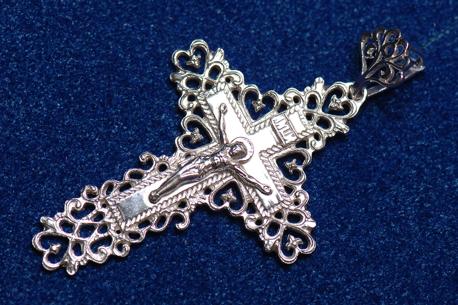 Православный крест из серебра