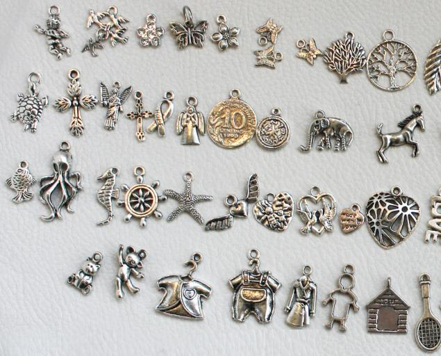 Браслет серебряный с висюльками