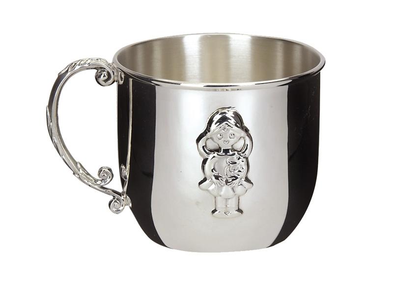 Серебряная детская чашечка