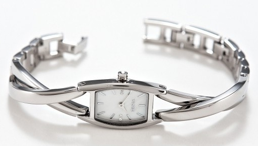 Женские часы из серебра.
