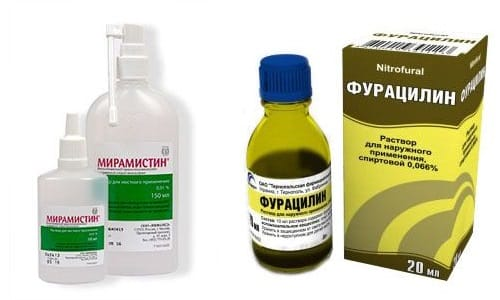 Фурацилин и Мирамистин относятся к антисептикам, которые борятся с микробами