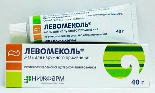 Левомеколь используют для лечения ран с гноем и при наличии инфекции со смешанной бактериальной микрофлорой