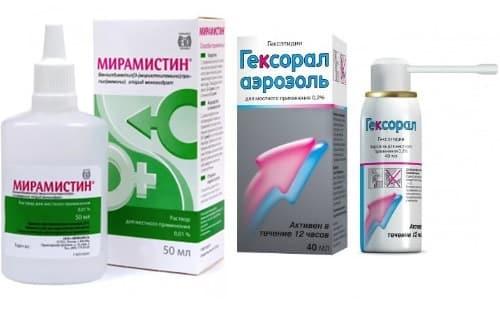 Чтобы предупредить осложнения заболеваний носоглотки и ротовой полости, в схему терапии включают Гексорал и Мирамистин