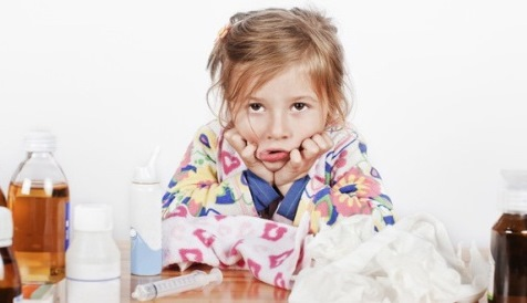 Девочка измучена аллергией